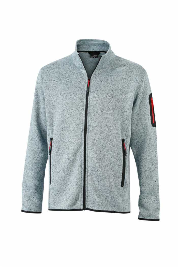 Light-Grey Melange/Red