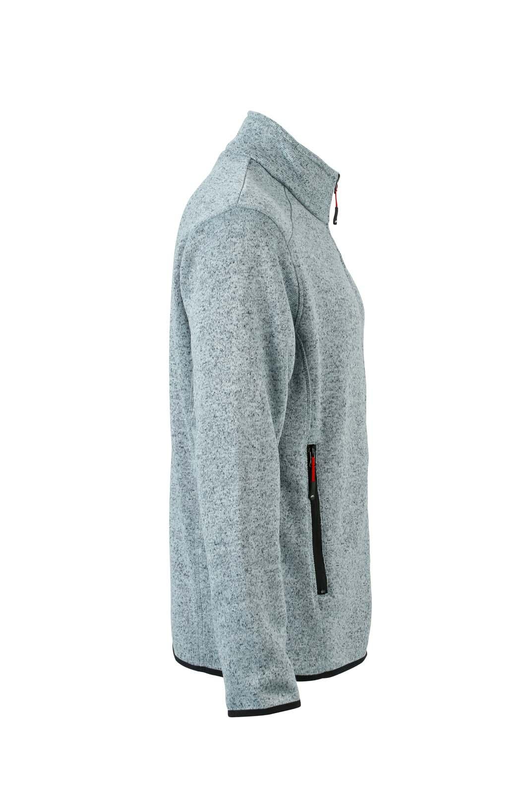 Light-Grey Melange/Red